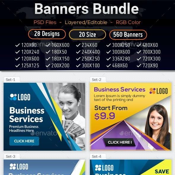 Bundle Multipurpose Banners Ads Design