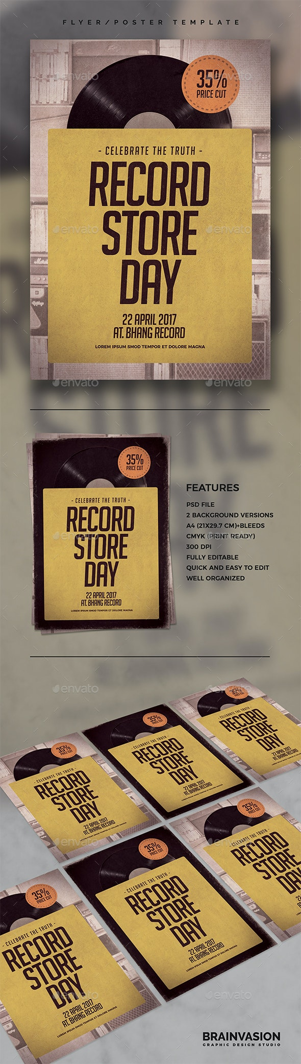 Record Store Day Flyer/Poster Template - Miscellaneous Events