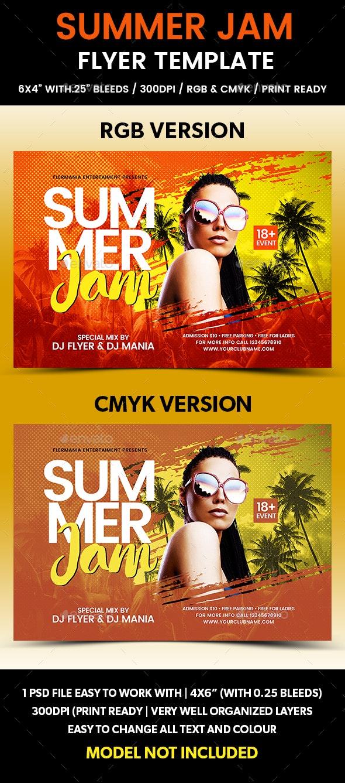 Summer Jam Flyer Template - Flyers Print Templates