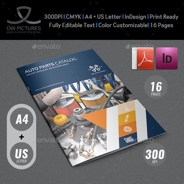 Auto Parts Catalog Brochure Template Vol.2