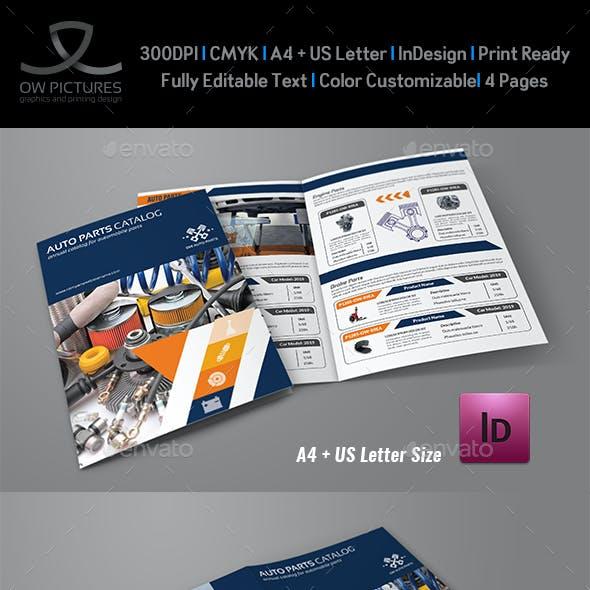 Auto Parts Catalog Bi-Fold Brochure Template Vol.2