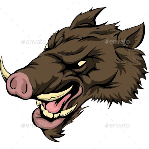 Boar Mascot Character