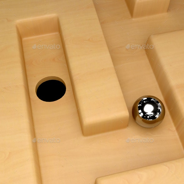 Ball in Maze - Miscellaneous 3D Renders