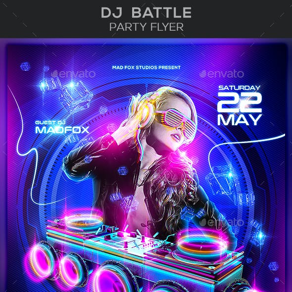Dj Battle Party Flyer