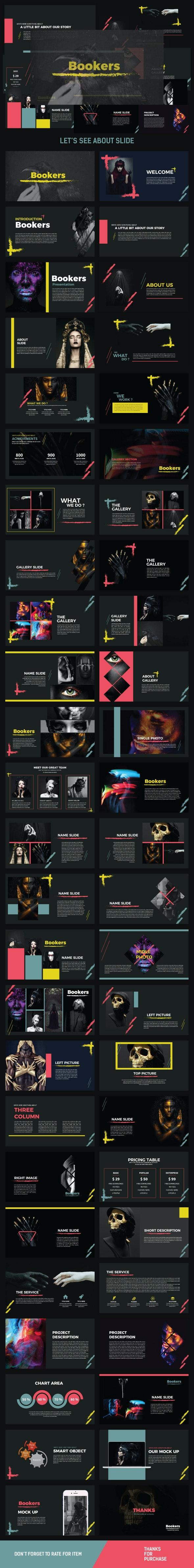 BOOKERS Keynote Multipurpose - Creative Keynote Templates