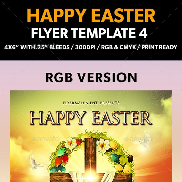 Happy Easter Flyer Template 4