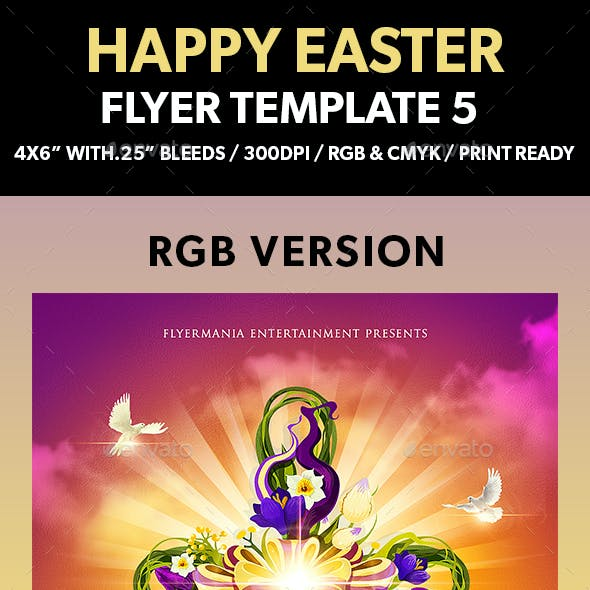 Happy Easter Flyer Template 5