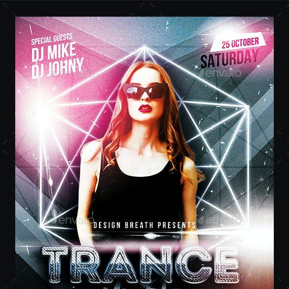 Trance Electro Night Flyer