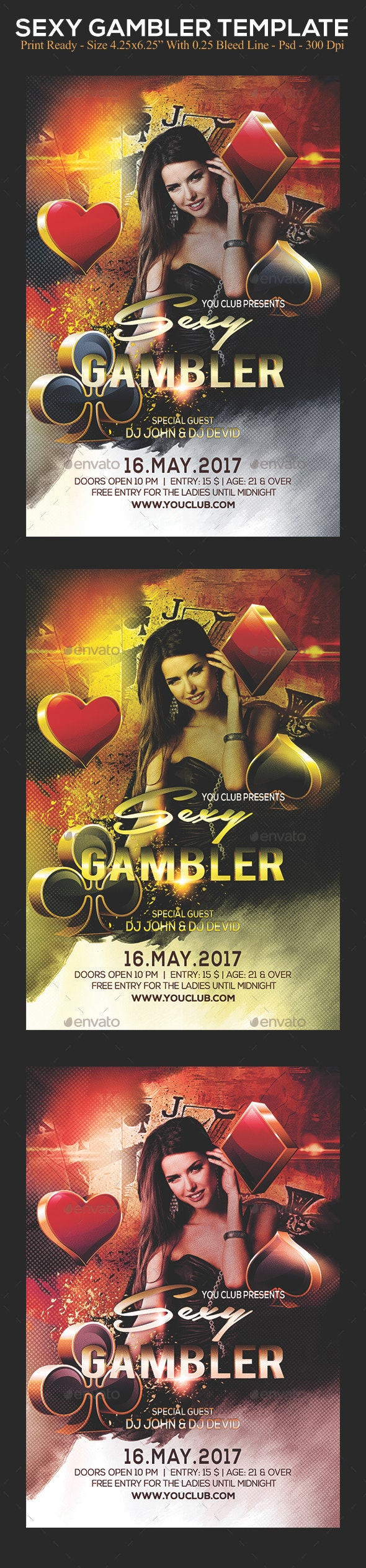 Sexy Gambler - Clubs & Parties Events