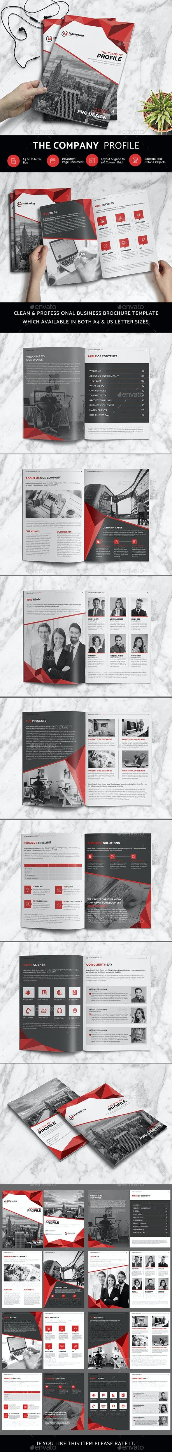 The Company Profile - Stationery Print Templates