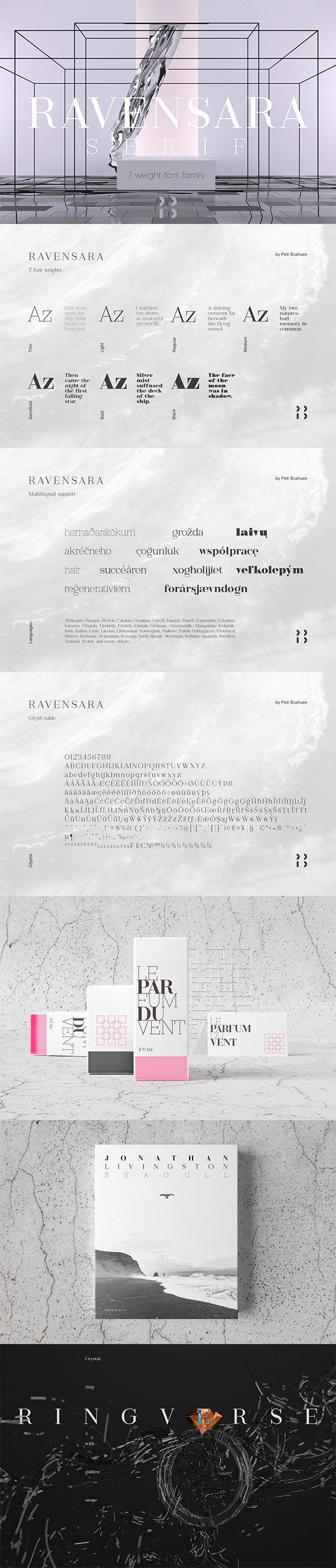 Ravensara Serif - Serif Fonts