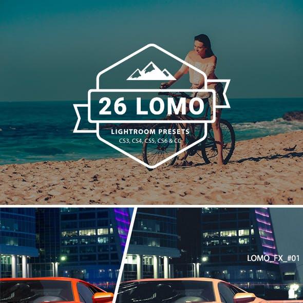 26 LOMO Lightroom Presets Filter