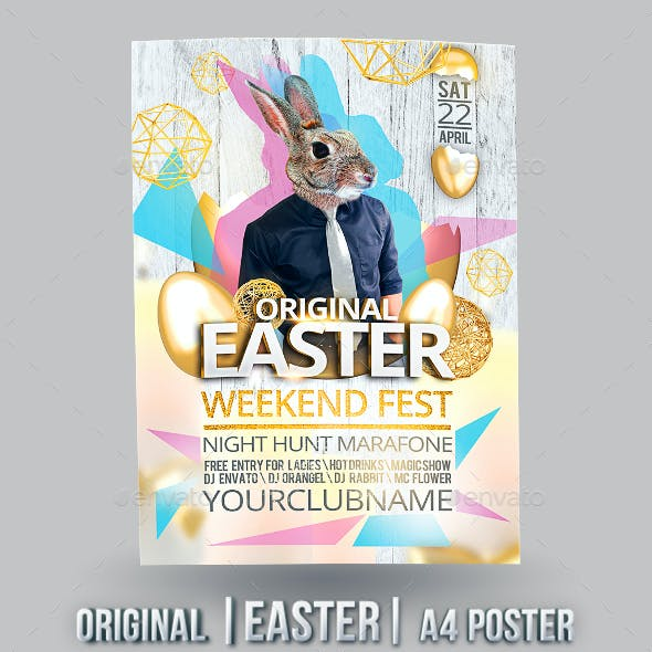 Original Easter A4 Poster