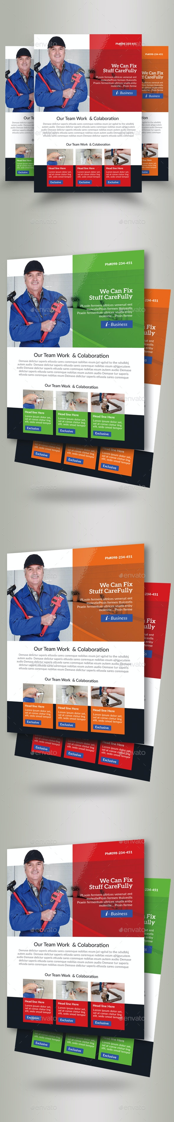 Handyman & Plumber Services Flyer - Corporate Flyers