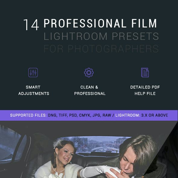 14 Professional  Film Lightroom Presets
