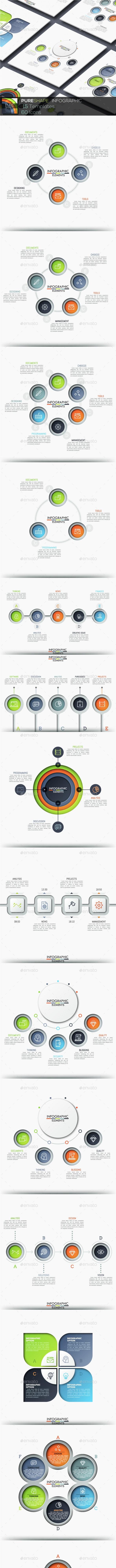Pure Shape Infographic. Set 8 - Infographics