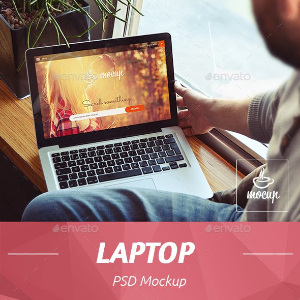 PSD Laptop Mockup Freelancer Sight