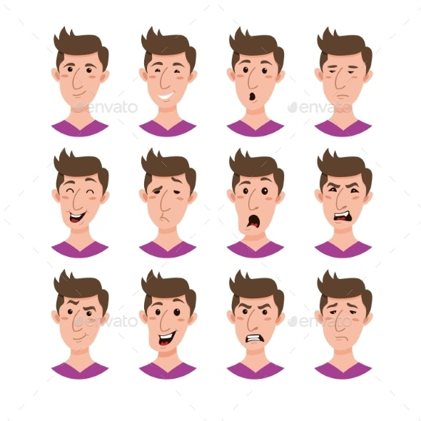Male Emoji Cartoon Character - People Characters