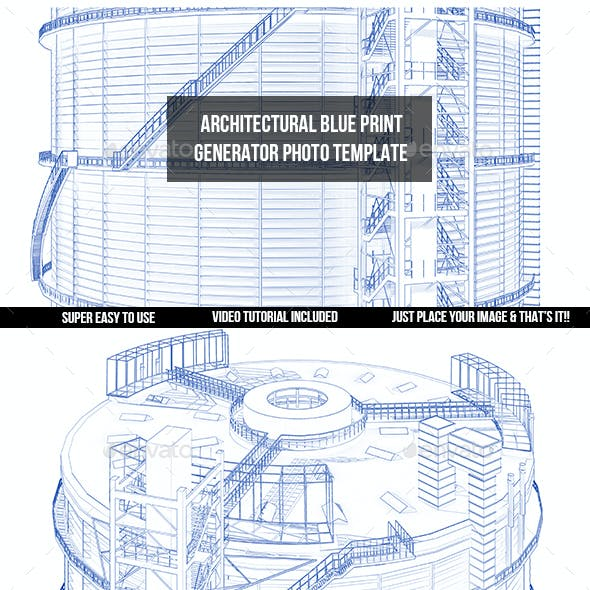 Architectural Blue Print Generator- Photo Template