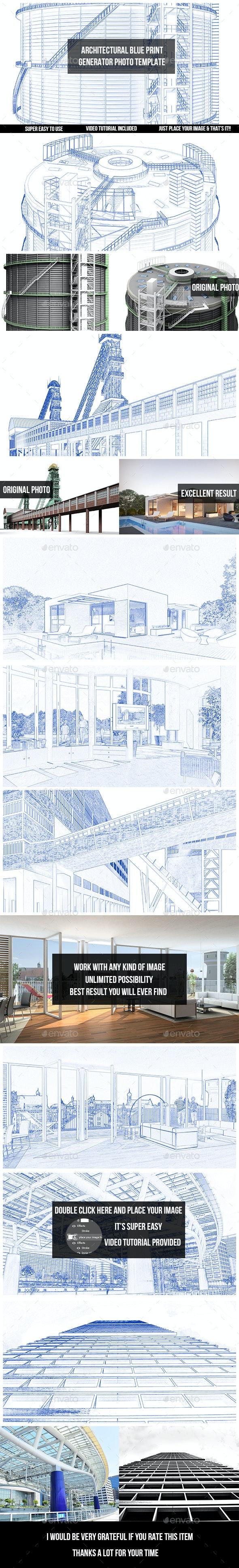 Architectural Blueprint Generator - Photo Template - Photo Templates Graphics