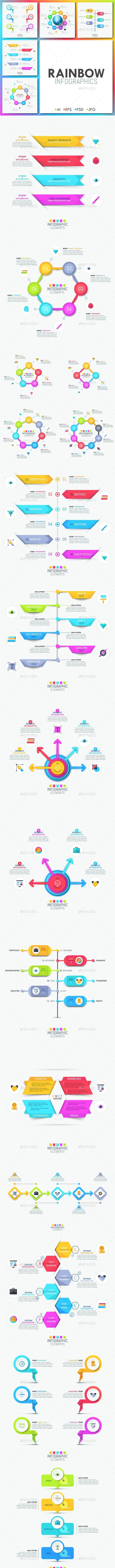 Rainbow Infographics - Infographics