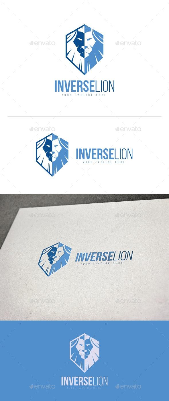 Inverse Lion Logo - Animals Logo Templates