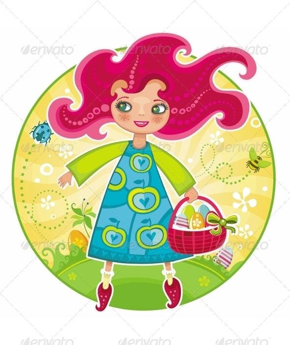 Easter girl - People Characters