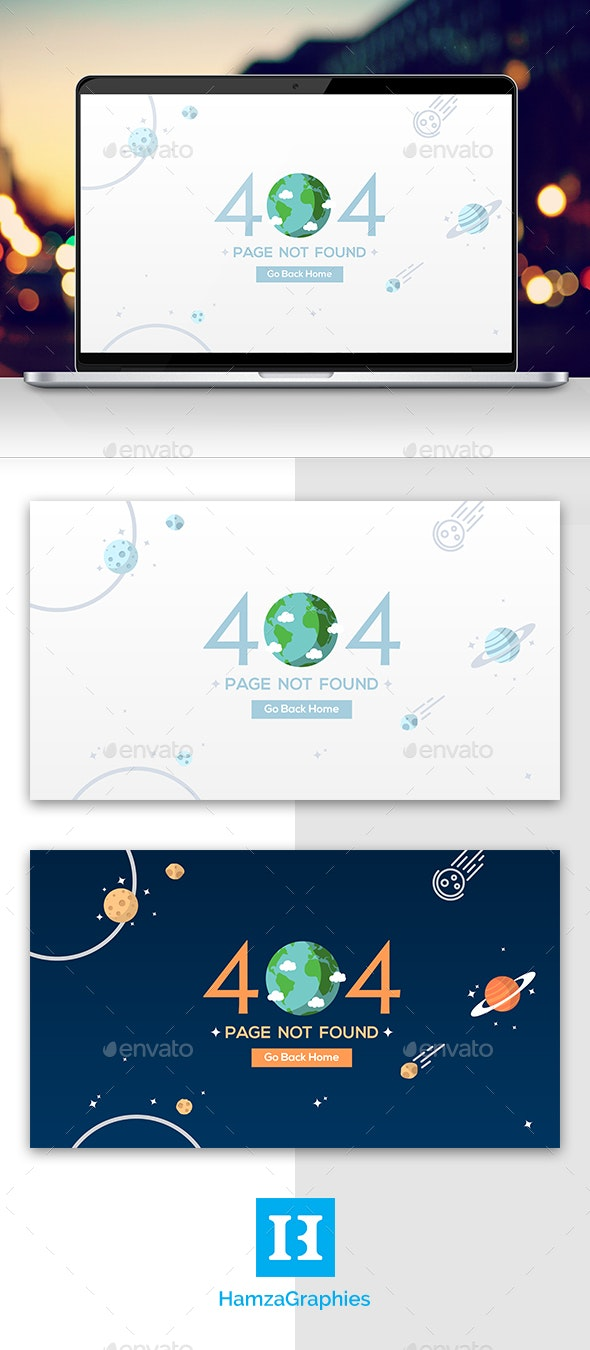 Globe 404 - 404 Pages Web Elements