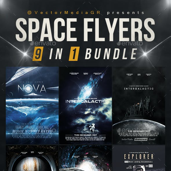 Space - Flyers / Posters [Bundle] (9 in 1)