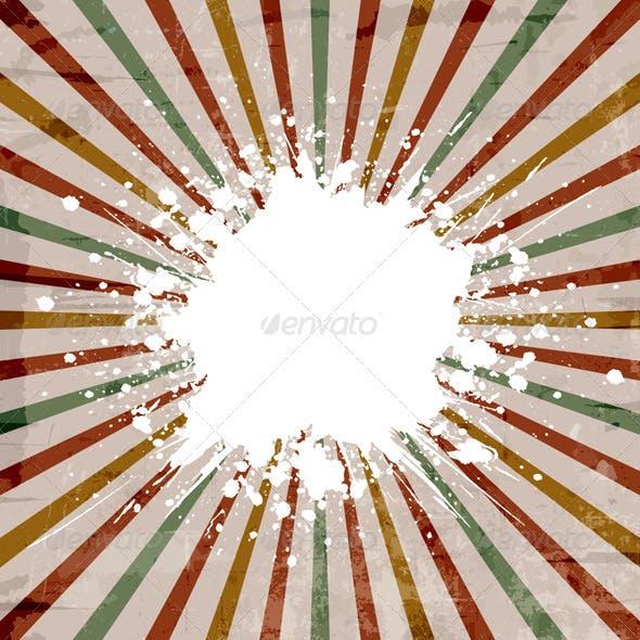 Grunge starburst background