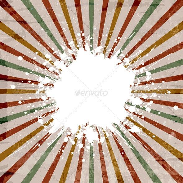 Grunge starburst background - Backgrounds Decorative
