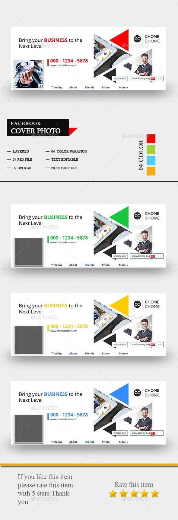 Corporate Facebook Timeline Cover - Social Media Web Elements