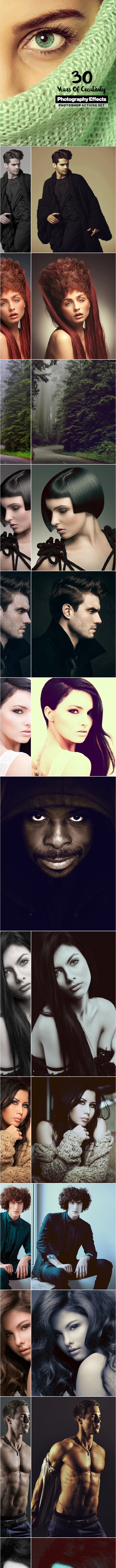 30 Premium Photoshop Actions - Years Of Creativity - Photo Effects Actions