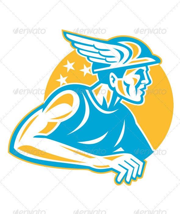Roman God Mercury Hermes - People Characters