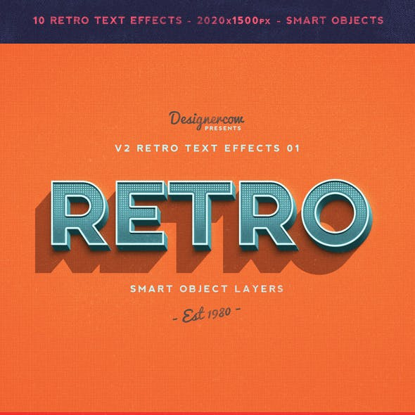 Retro Text Effects 02