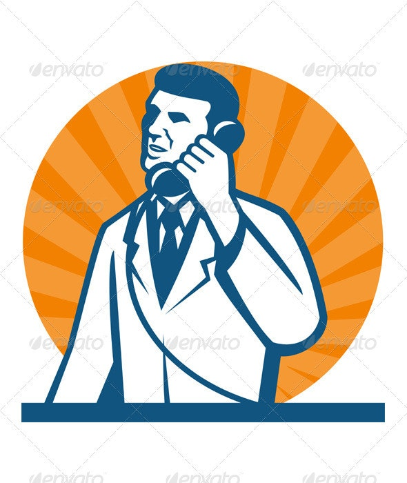 Scientist Researcher Lab Technician Telephone - People Characters