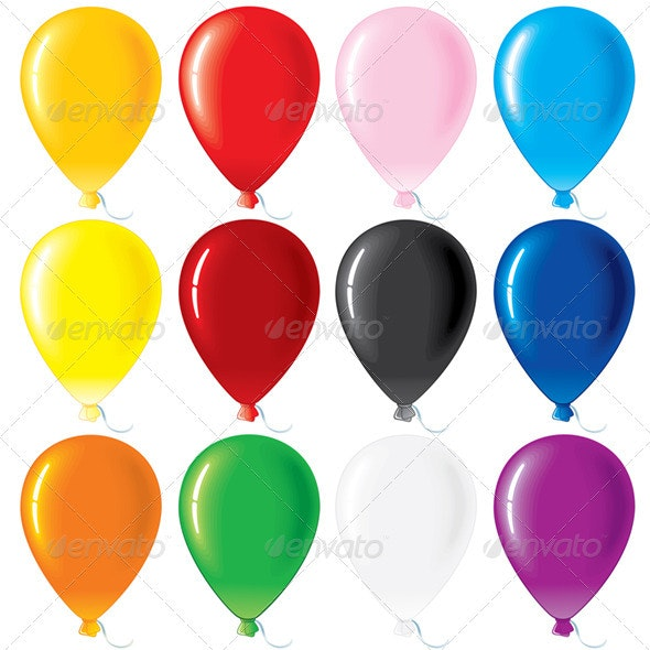 Colorful Ballons - Objects Vectors