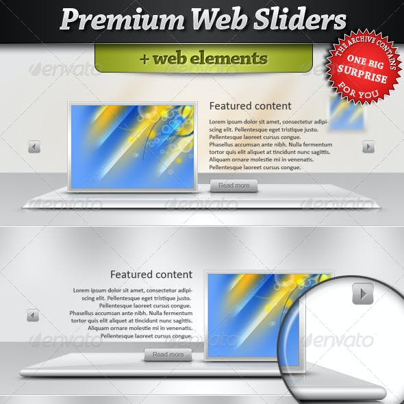Premium Web Sliders with web element