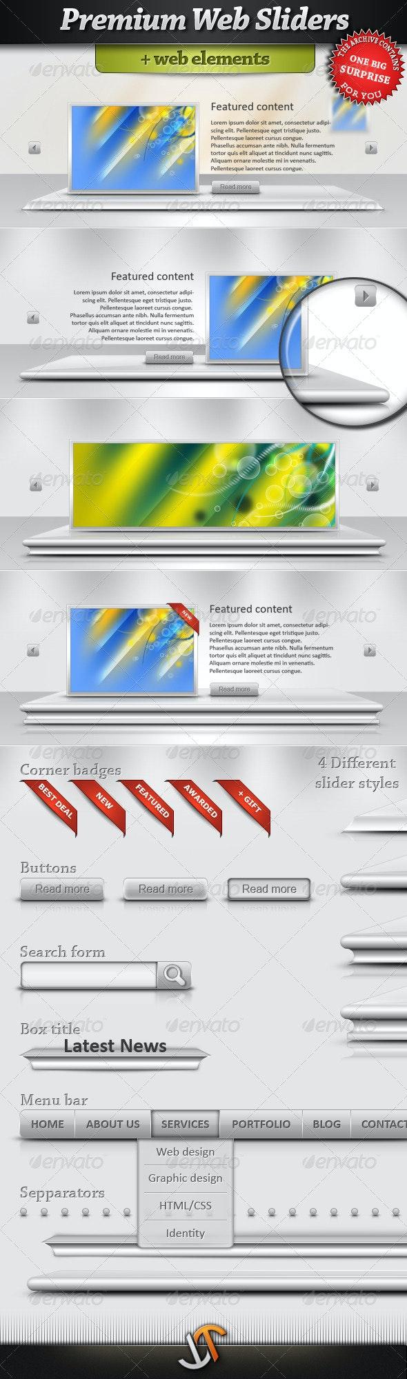 Premium Web Sliders with web element - Sliders & Features Web Elements
