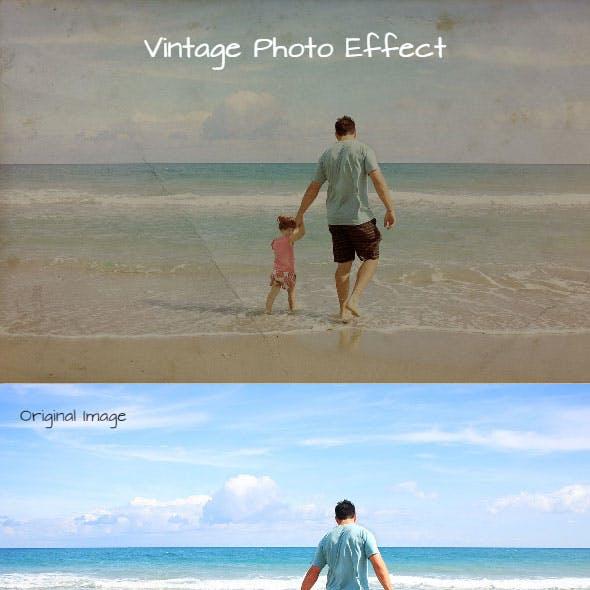 Vintage Photo Effect Photoshop Action