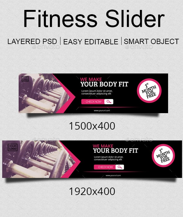 Fitness Slider - Sliders & Features Web Elements