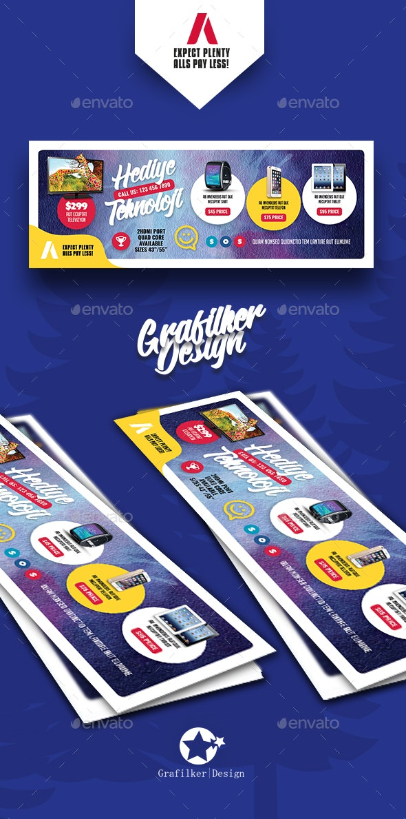 Technology Shop Cover Templates - Facebook Timeline Covers Social Media