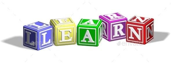 Learn Alphabet Blocks - Miscellaneous Vectors