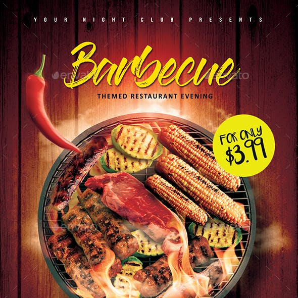 Barbecue Restaurant Flyer