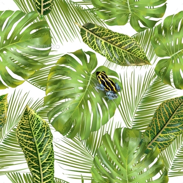 Tropical Leaves Pattern - Flowers & Plants Nature