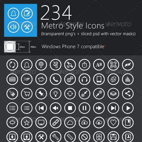 234 Unique Metro Style Icons