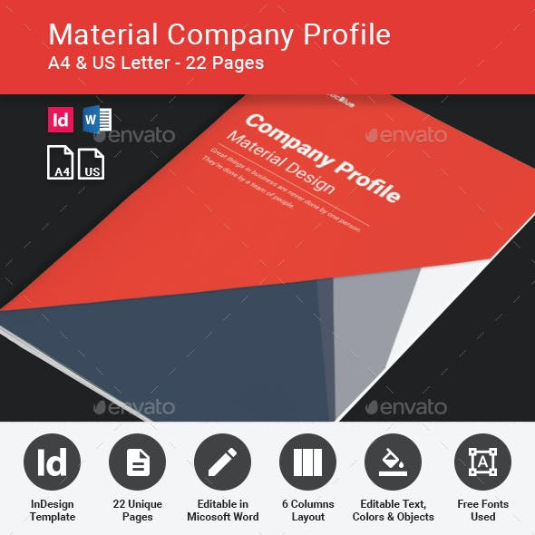 Company Profile - Material Design