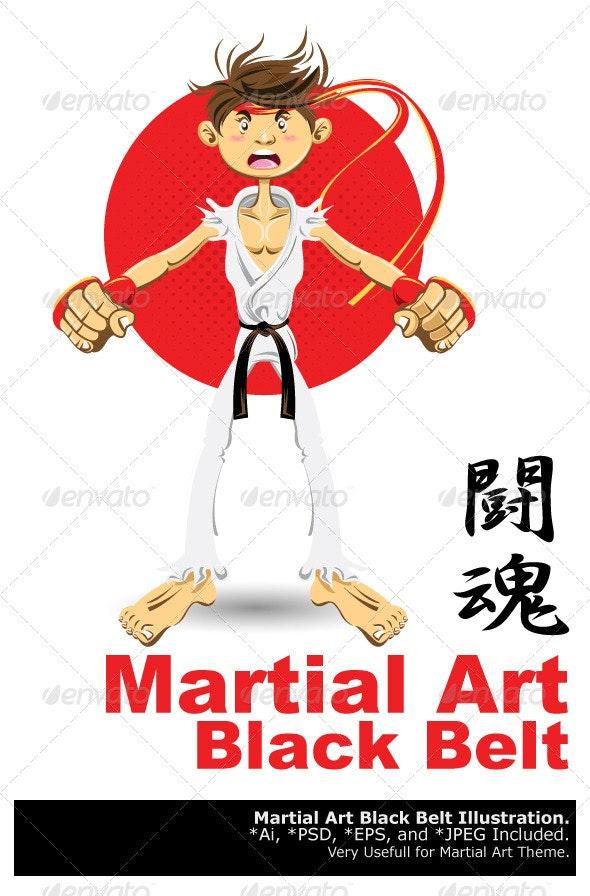 Martial Arts Black Belt - Sports/Activity Conceptual