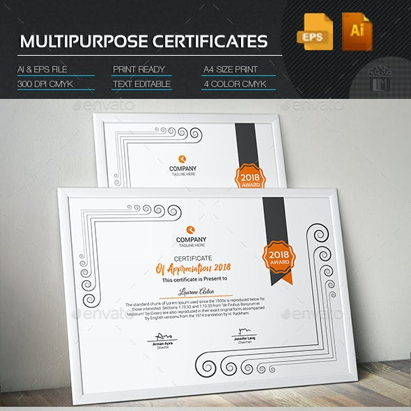 Multipurpose Certificates