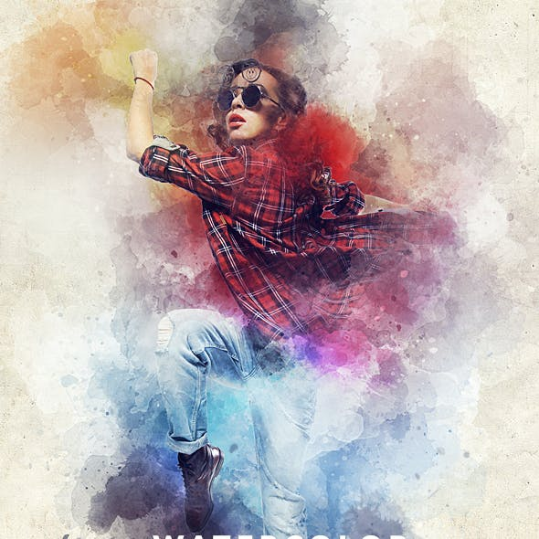 Watercolor Animation Photoshop Action